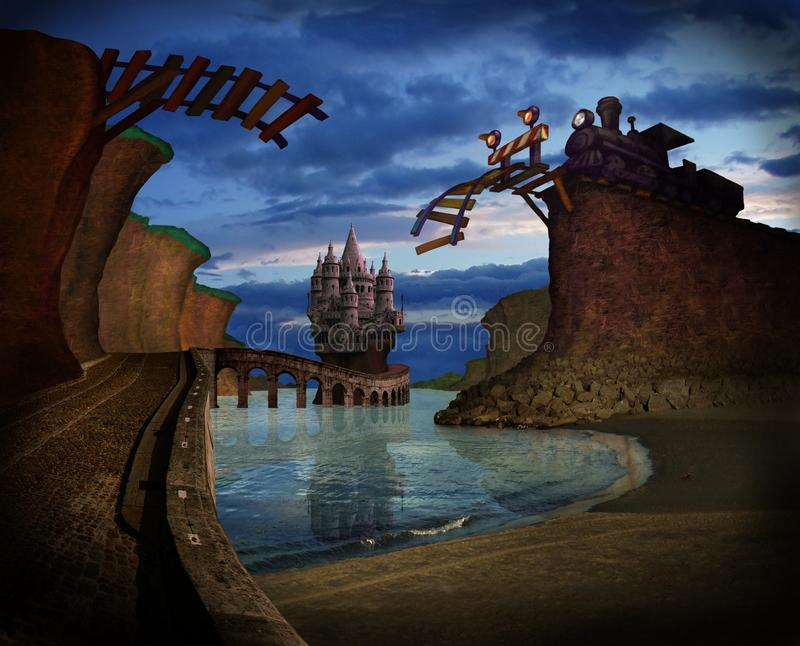 Download Strange landscape stock photo. Image of fantasy, bridge - 18246838