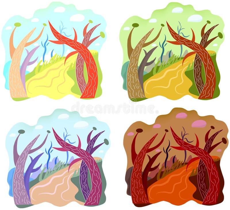 Download Strange landscape stock vector. Illustration of tropical - 26930090