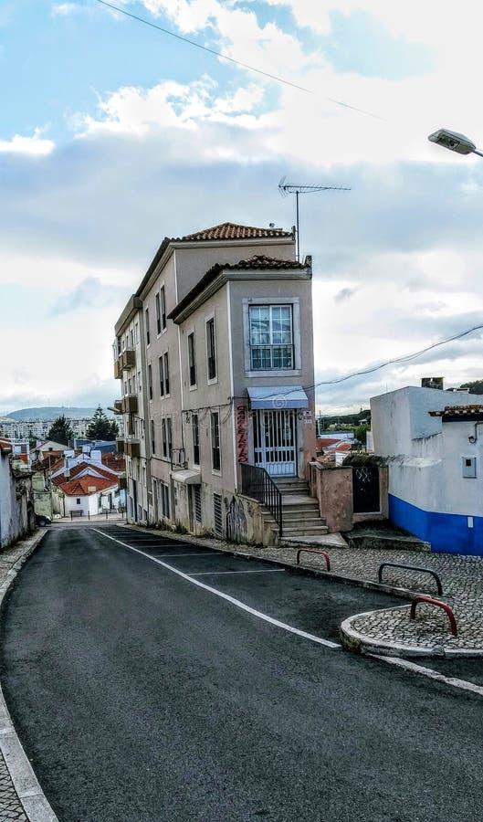 Strange Lange Building, Loures, Portugal. Strange Building in street in Loures, Portugal stock photos