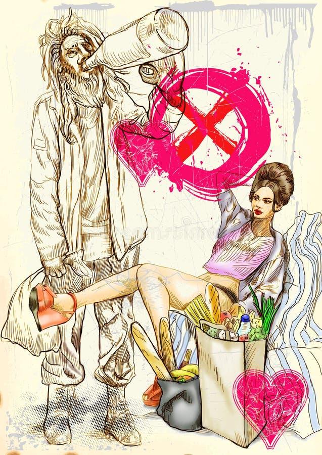 Download Strange Love stock illustration. Image of comic, artwork - 28577472