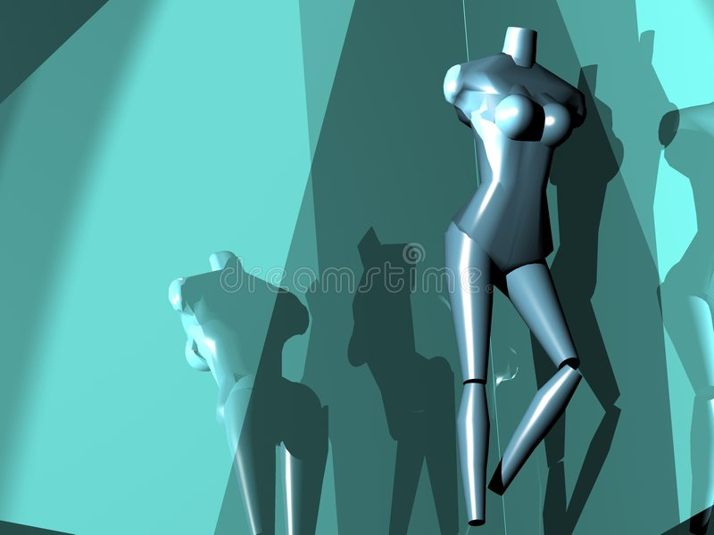 A strange mannequin vector illustration