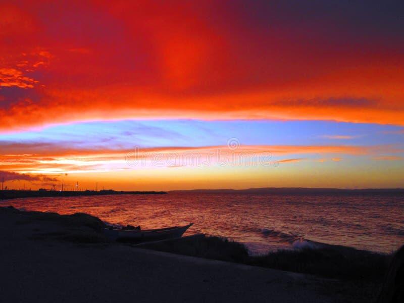Strange Marine sunset. royalty free stock photos