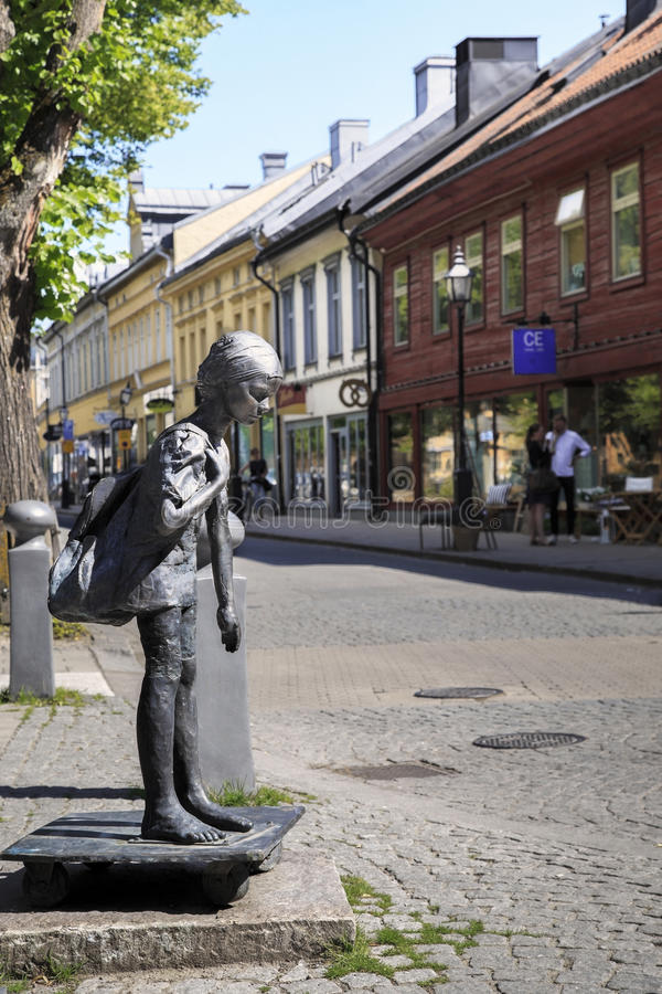 Strange monuments of Orebro, Sweden. OREBRO, SWEDEN - JULY 7, 2016: This is one of the many unusual monuments of the city royalty free stock image