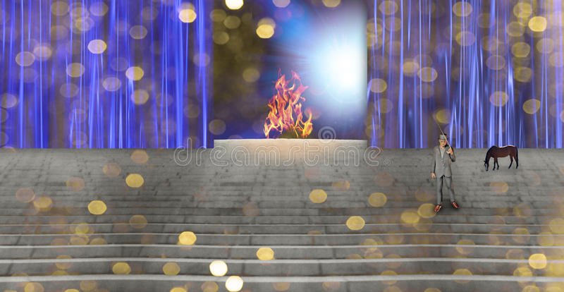 Download Strange Stage stock illustration. Image of fire, beautiful - 13839879