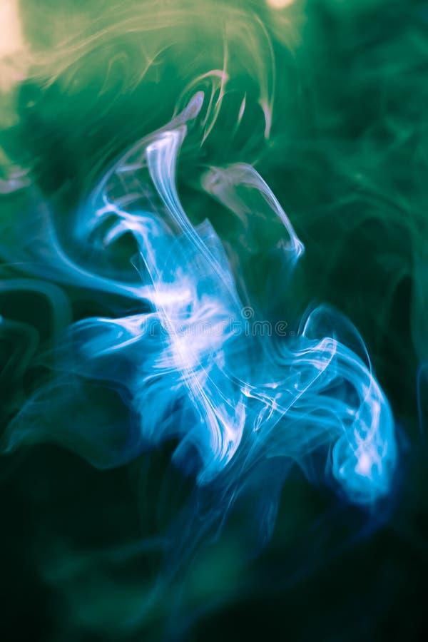Strangely shaped puff of smoke stock image