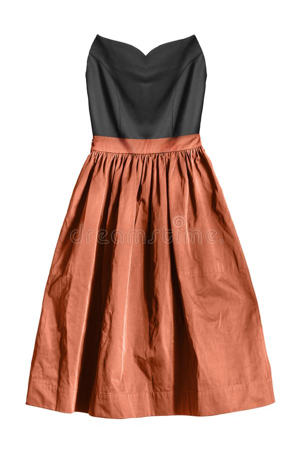 Strapless geïsoleerde kleding royalty-vrije stock foto