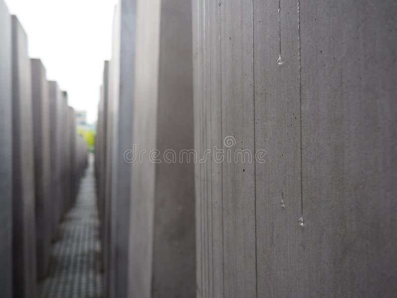 Strappi del blocchetto ebreo del monumento di olocausto fotografia stock