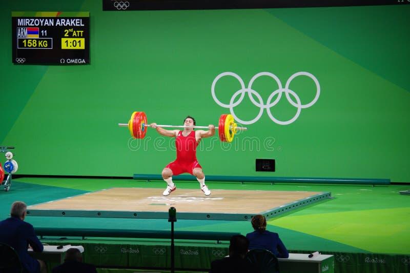 Strappo da Arakel Mirzoyan a Rio2016 immagine stock
