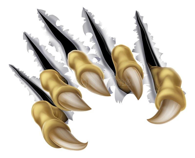 Strappo della mano dell'artiglio del mostro illustrazione di stock