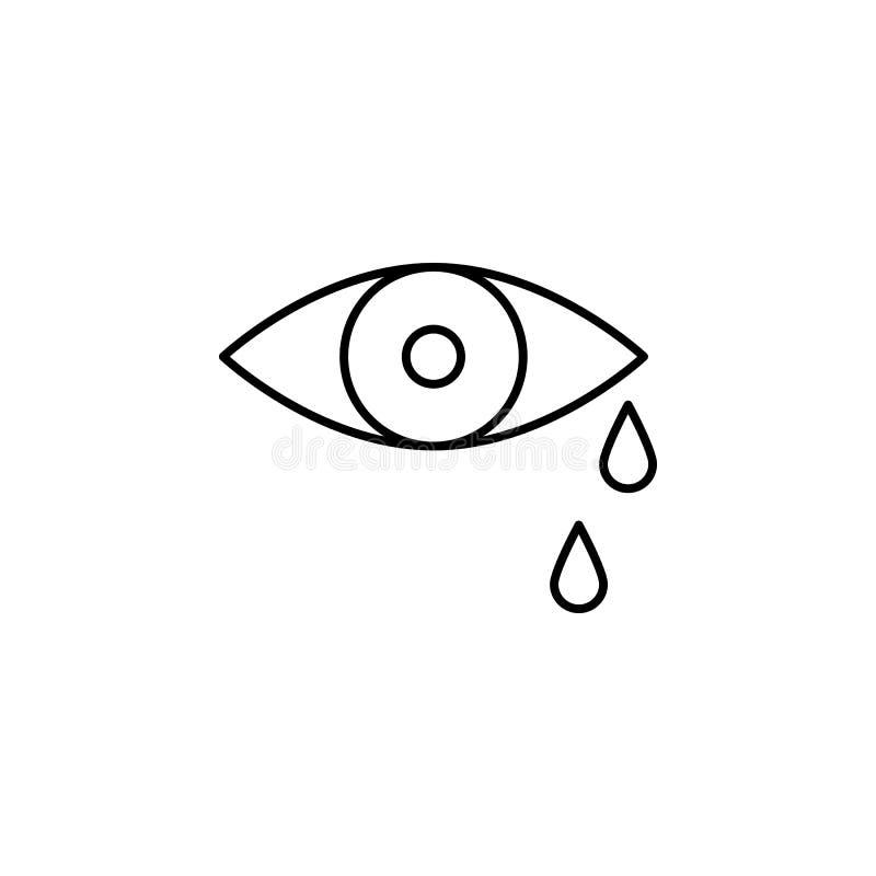 strappo, occhio, icona del profilo di morte insieme dettagliato delle icone delle illustrazioni di morte Pu? essere usato per il  illustrazione di stock