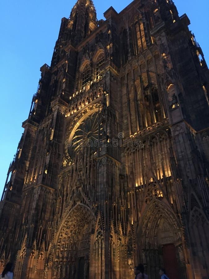Strasbourg's-Kathedrale stockfotos