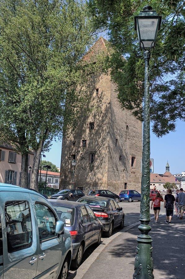 Strasbourg är en stad i Frankrike, europeisk union royaltyfri fotografi