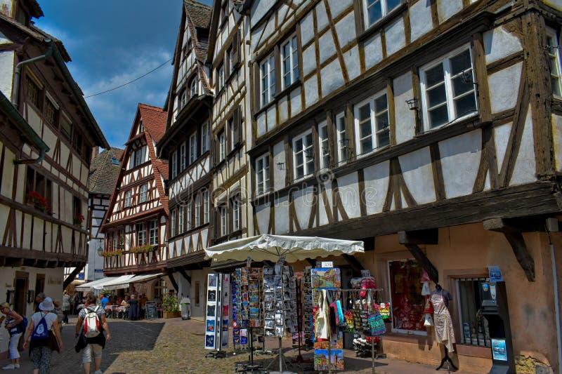 Strasbourg, Alsácia, França - 11 de julho de 2018: O La Petite France é um quarto histórico em Strasbourg foto de stock royalty free