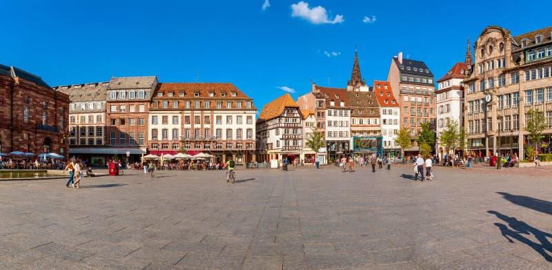 Strasbourg, Alsácia, França, o 22 de junho de 2012 Opinião Kleber Square fotos de stock