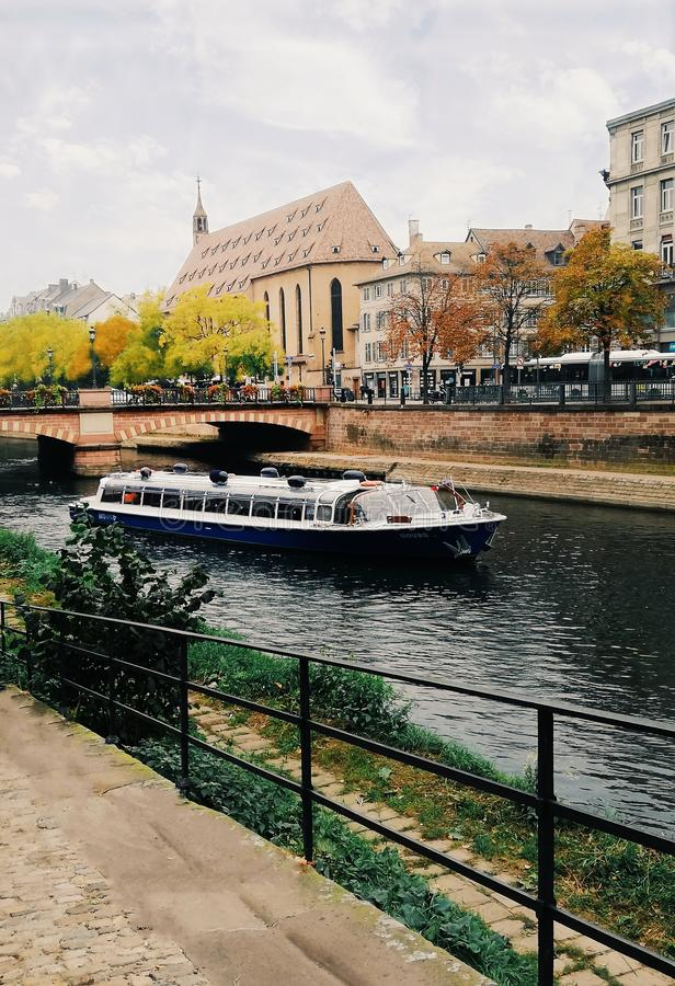 The Strasbourg canals royalty free stock photography