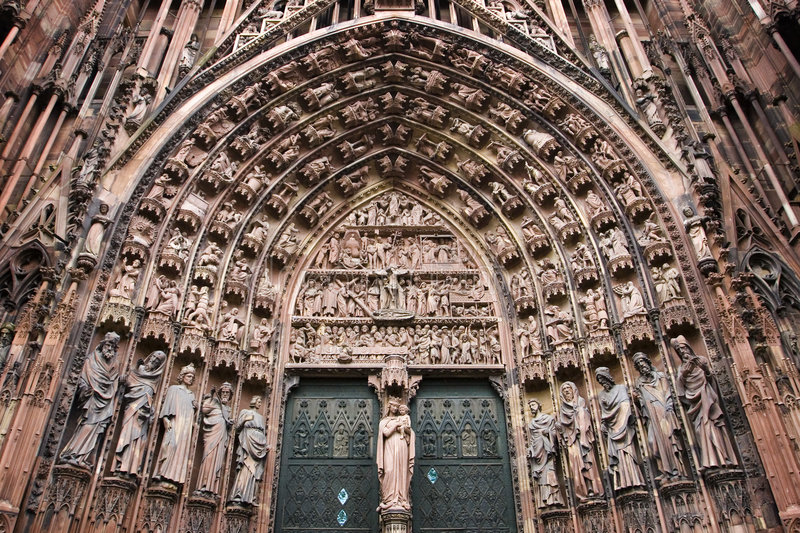 Download Strasbourg Cathedral Central Portal Stock Image - Image: 7596717