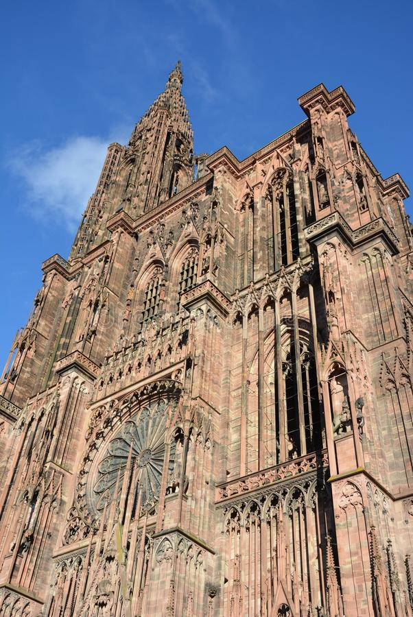 Strasbourg Cathedral de Notre Dame stock photos