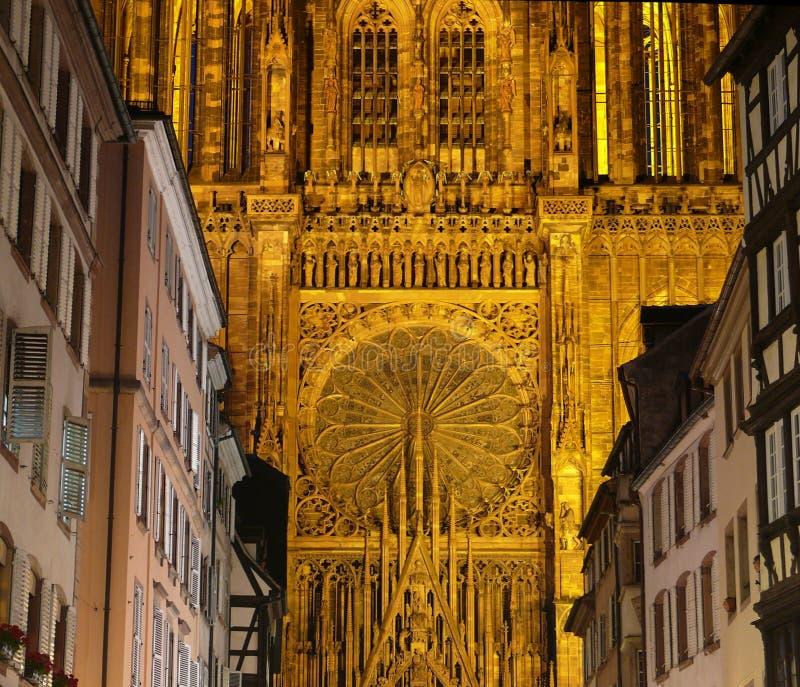 Strasbourg Cathedral in France stock image