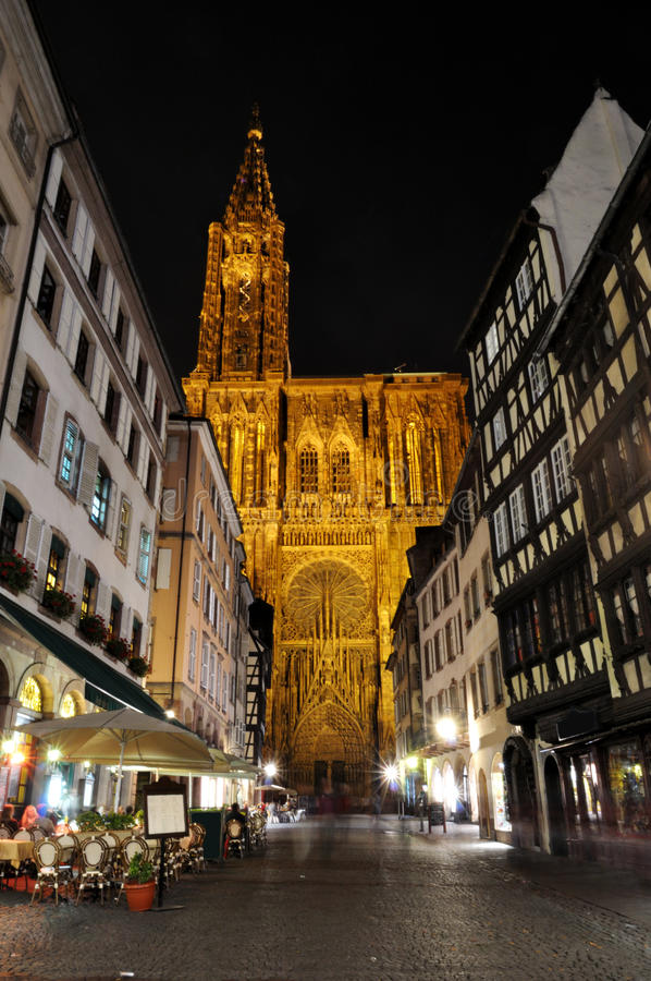 Free Strasbourg Cathedral - Night Shot Stock Image - 12477571