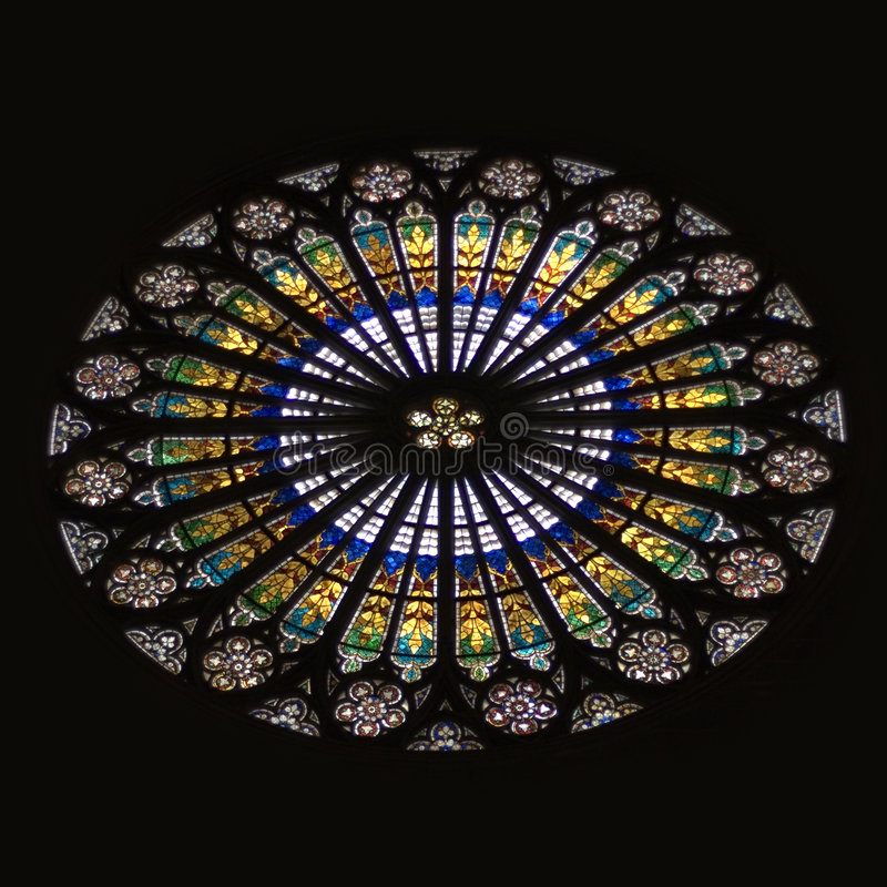 Download Strasbourg Cathedral Stained Glass Rose Window Stock Image - Image: 7596673