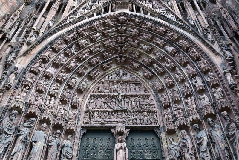Strasbourg Cathedral - Strasbourg - Alsace - France stock image