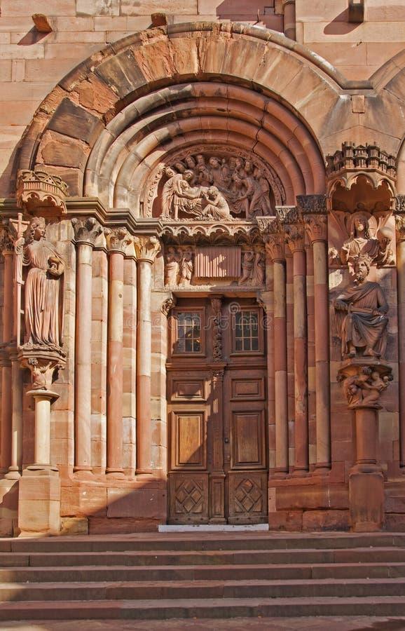 Strasbourg domkyrka royaltyfri bild