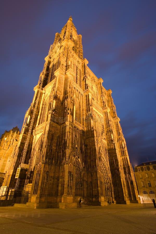 Strasbourg domkyrka royaltyfri foto