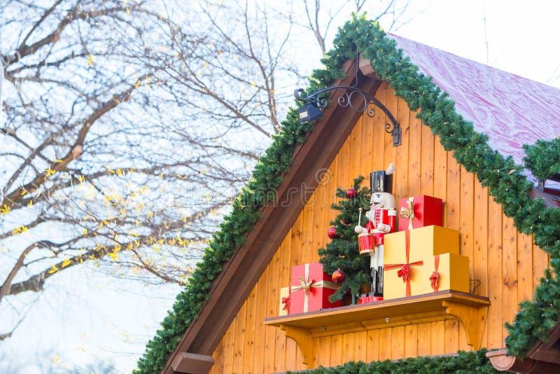 Strasbourg, France 29 DÉCEMBRE 2017 : Jouet s de casse-noix de Noël image libre de droits