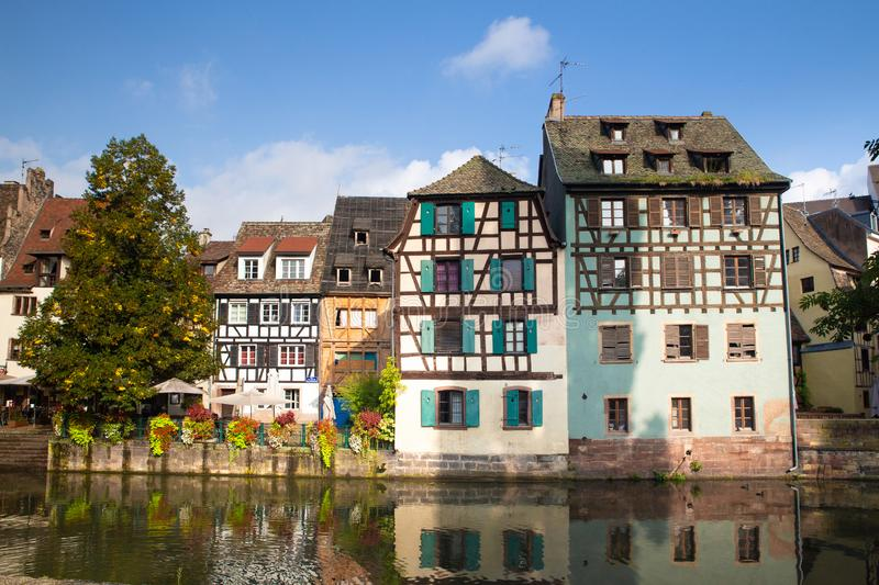 Strasbourg France Half-timbered houses royalty free stock photos