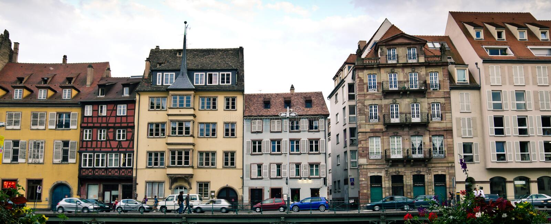 strasbourg gata arkivbilder