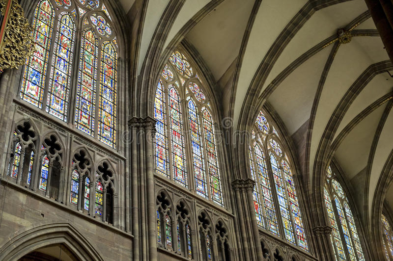 Download Strasbourg - The Gothic Cathedral, Interior Stock Photo - Image: 27647120