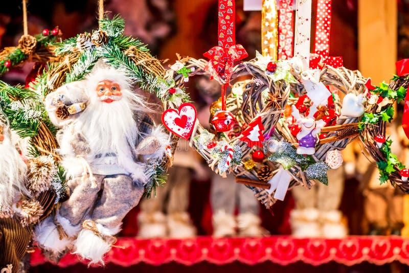 Strasbourg - jul marknadsför, Frankrike royaltyfri fotografi