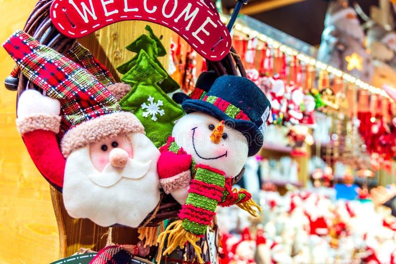 Strasbourg jul marknadsför - Frankrike arkivfoto