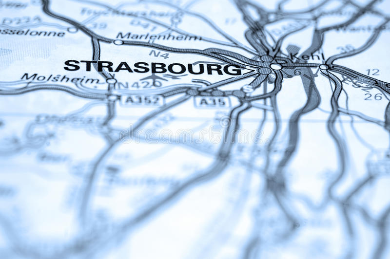 Download Strasbourg Map Royalty Free Stock Photography - Image: 19808407