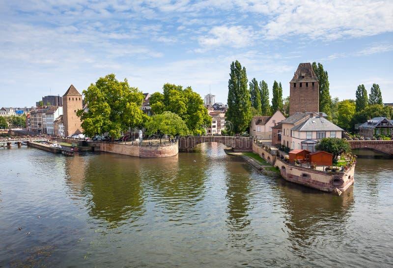 Strasbourg, pont Ponts Couverts dans Petite France photographie stock libre de droits