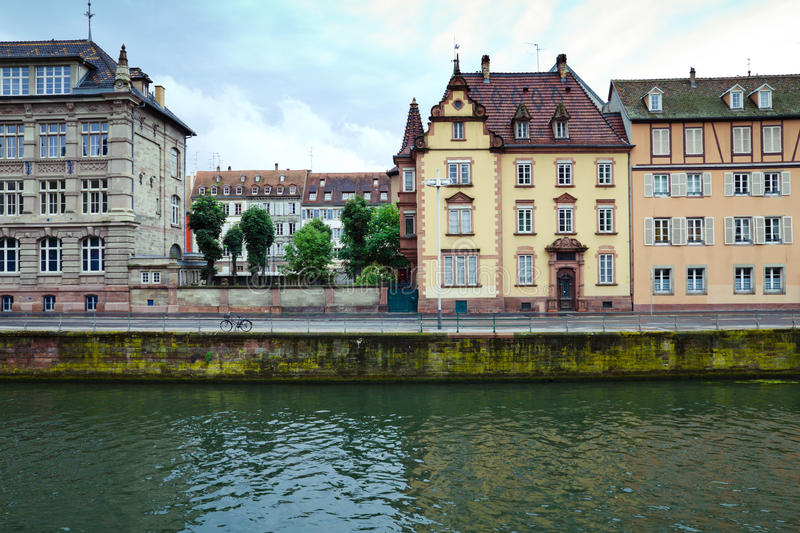 Download Strasbourg river houses stock photo. Image of wide, strasbourg - 17473374
