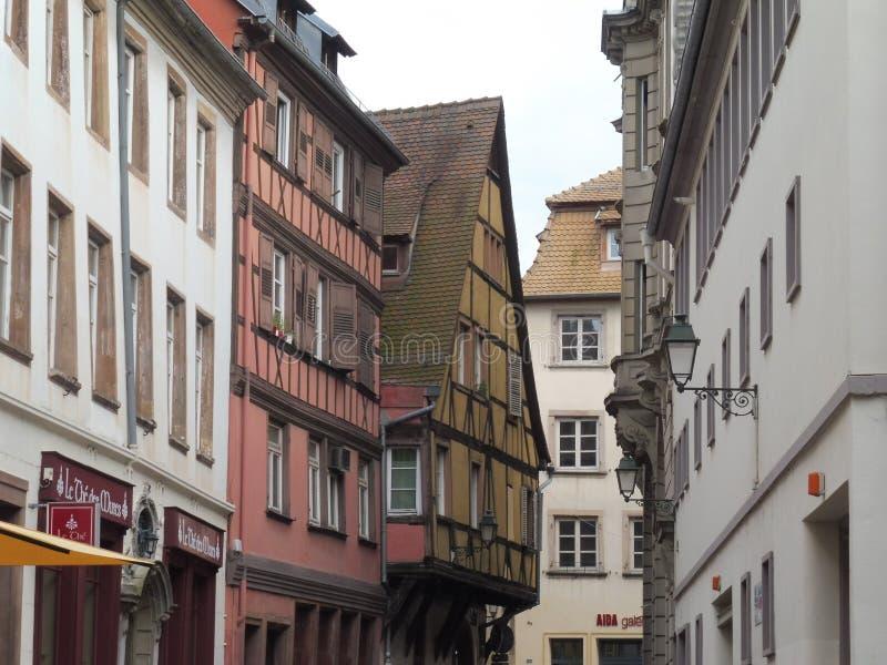 Strasbourg Sainte Barbe. Immeubles Alsace Europe Histoire promenade Historique ciel royalty free stock photo