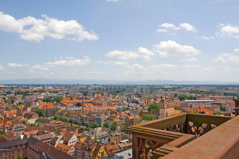Strasbourg stad - flyg- sikt royaltyfria bilder