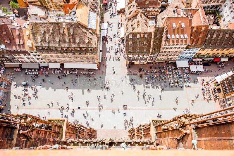 Strasbourg stad i Frankrike royaltyfria foton