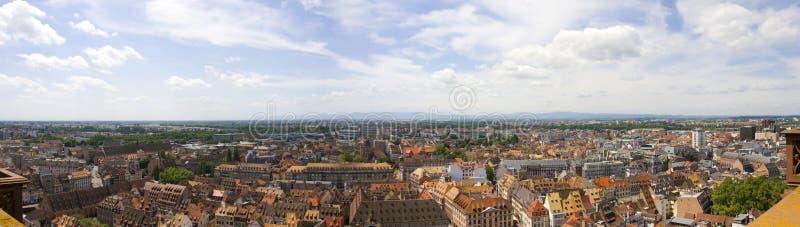Strasbourg stad - panoramautsikt arkivfoto