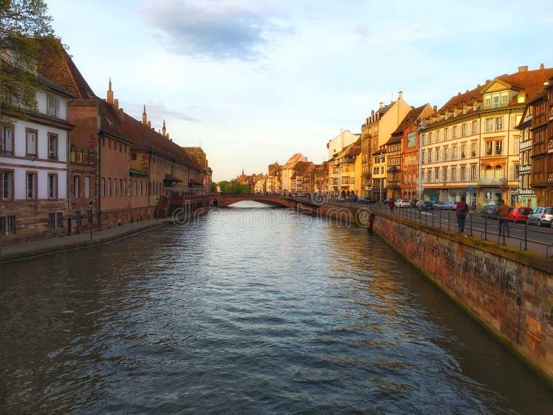 Strasbourg stadssikt arkivbilder