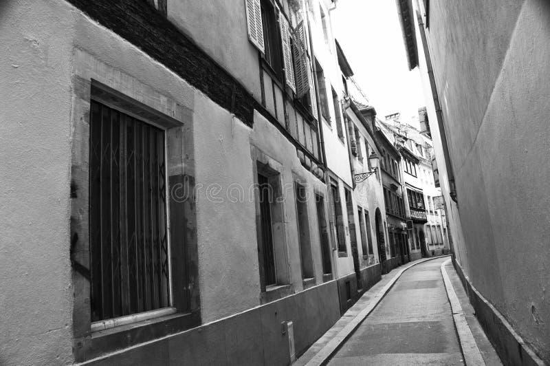 strasbourg wąska ulica fotografia royalty free