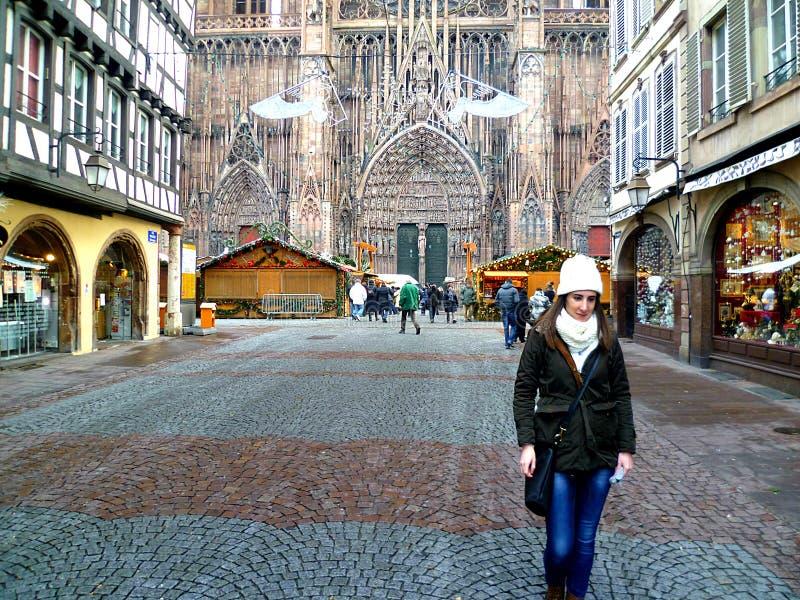 Strasburgo sul Natale fotografie stock libere da diritti