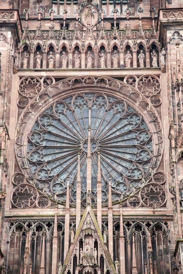 Strasburska katedra, Alsace, Francja zdjęcia stock