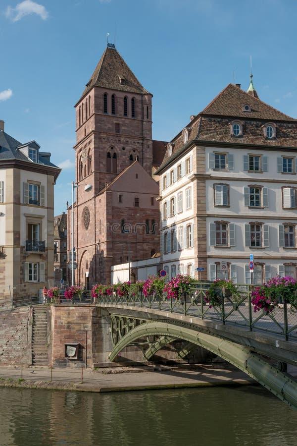 Strasburski pejzaż miejski fotografia stock
