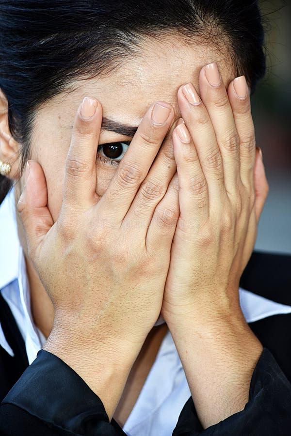 Straszna Biznesowa kobieta Jest ubranym kostium zdjęcia stock