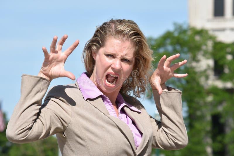 Straszna Biznesowa kobieta Jest ubranym kostium obrazy stock