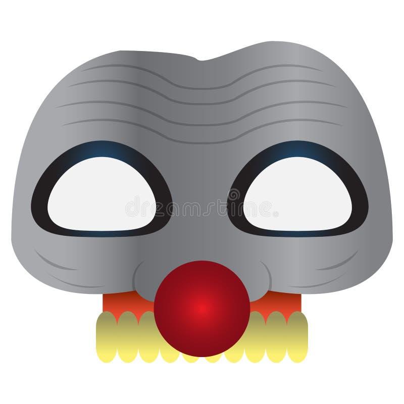 Straszna clwon maska royalty ilustracja