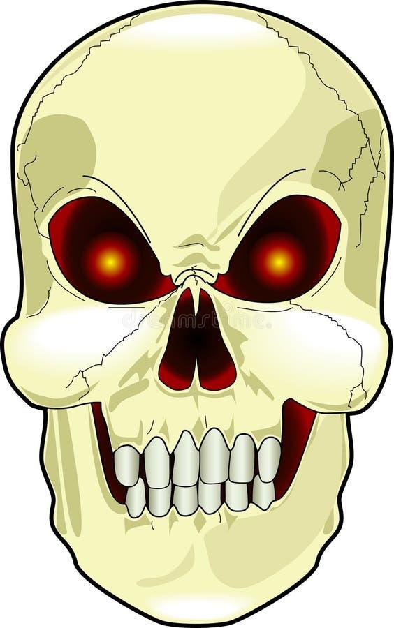 straszna czaszki ilustracji