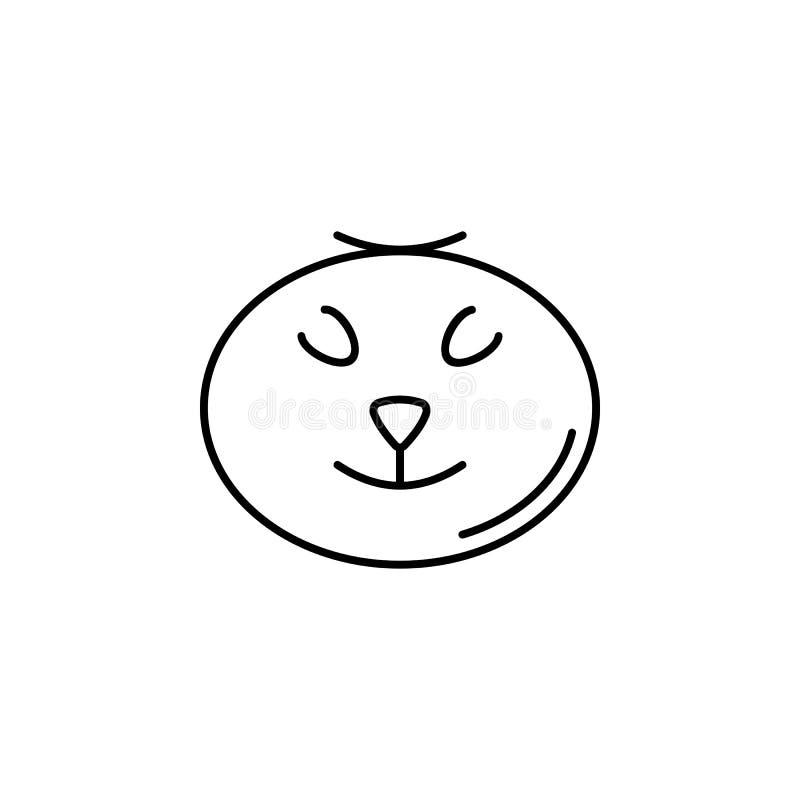 straszna dyniowa ikona Element Halloween ilustracja Premii ilości graficznego projekta ikona Znaki i symbol inkasowa ikona fo ilustracja wektor